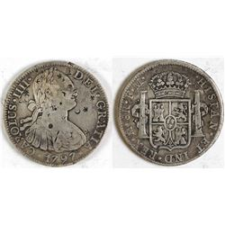 Spanish Reales with Chinese Chop Marks