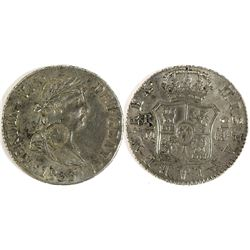 Counterstamped Spanish 2 Reales