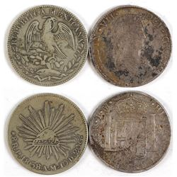 Spanish 8 reales  and Mexican 8 reales