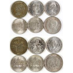 Six Foreign Silver Coins
