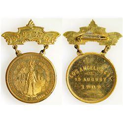 1909 Los Angeles Breast Badge
