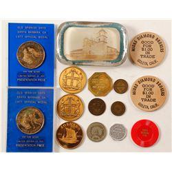 Santa Barbara Token and Medal Collection