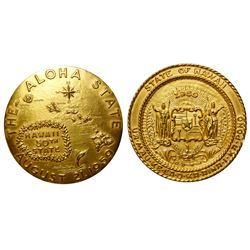 Extremely Rare Gold Hawaii Statehood Medal