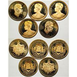 Hawaii Proof Commemorative Silver-gilt Medals