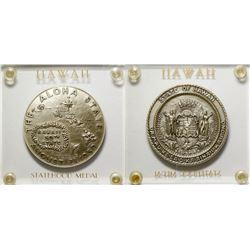 Silver Hawaii Statehood Medal