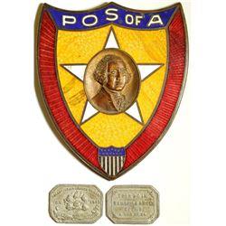 POS of A Enamel Shield with Washington Medal