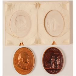 Reproduction Grover Cleveland  Indian Peace Medals with Mold