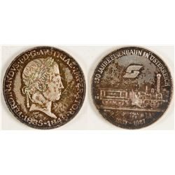 Two Austrian Silver Medals