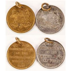 2 Colonial & Indian Exposition Medals