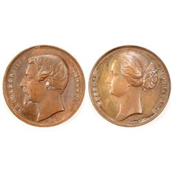 Emperor Napoleon III and Empress Eugenie Medal