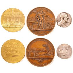 Three French & Swedish Medals