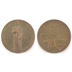 Swiss Freiburg Anniversary Medal