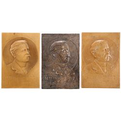 3 Numa Droz portrait plaques