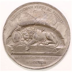 Lion of Lucerne Rock Relief Monument Medal (Switzerland)