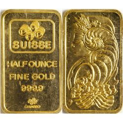 Half-Ounce Credit Suisse Gold Bar 9999