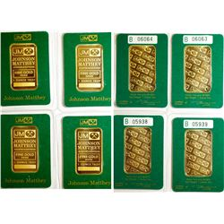 Four Johnson-Matthey One-Ounce Gold Bars