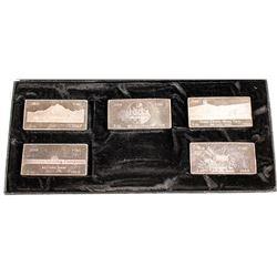 Five Silver Mine Ingots