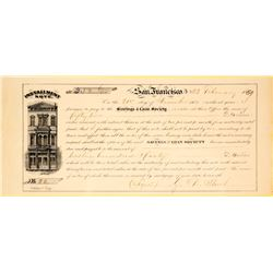 Savings & Loan Society Installment Note, San Francisco, 1859