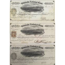 Three Colorado National Bank Territorial Certificates of Deposit