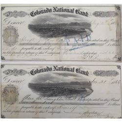 Two Colorado National Bank Territorial Certificates of Deposit