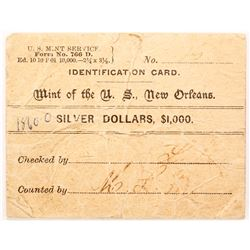 New Orleans Mint Bag Label