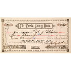 Eureka County Bank Stock Certificate, 1895