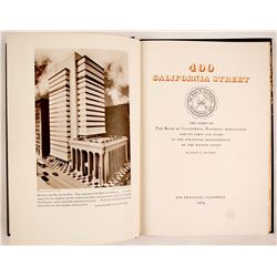 400 California Street, (Hardback book)