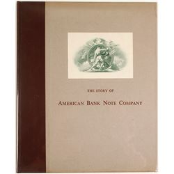 Hardback Book, The Story of American Bank Note Company