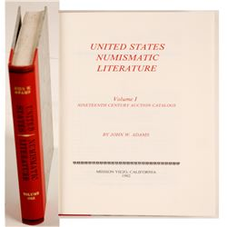 United States Numismatic Literature Vol. 1 by Adams