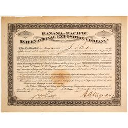 Pan Pacific International Exposition Company Stock Certificate