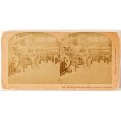 1893 Columbian Exposition Stereoview of Krupp's Gun Exhibit