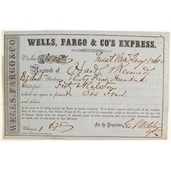 Wells Fargo Receipt (bag of gold dust) from Hardy & Kennedy to Fritz & Ralston