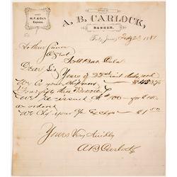 Wells Fargo Agent Letterhead, Fort Jones, CA, 1881