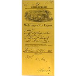 Taylorsville, California Wells Fargo Collection envelope