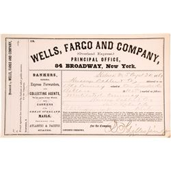 Wells Fargo Overland Express for Mutilated Currency, Montana Territory