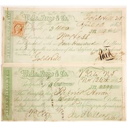 Wells Fargo Gold Hill & Virginia City, Nevada Territory Certificates of Deposit