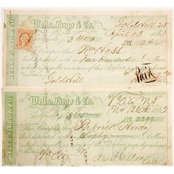 Wells Fargo Gold Hill & Virginia City, Nevada Territory Certificates of Deposit