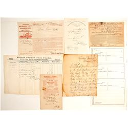 Shipping and Related Documents including Wells Fargo