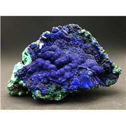 Azurite and Malachite from Liufengshan Mine, China