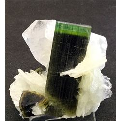 Elbaite and Albite, Quartz from Pakistan