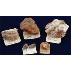 Five Aurora Ore Specimens