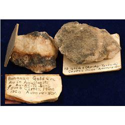 Cortez Mine Gold-Silver Specimens