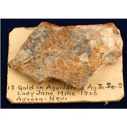 Lady Jane Mine Gold-silver Specimen