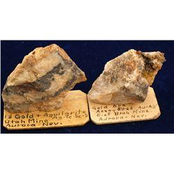 Utah Mine Gold-Silver Specimens