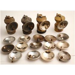 4 Autolite Carbide Lamps and Parts