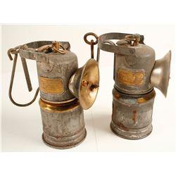 2 Dewar ITP Carbide Lamps