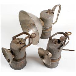 3 Dewar Superintendent Carbide Lamps
