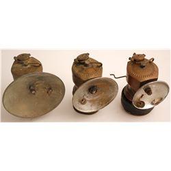 3 Different Justrite Carbide Lamps