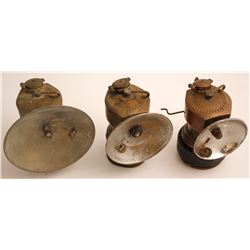 3 Different Justrite Carbide Lamps