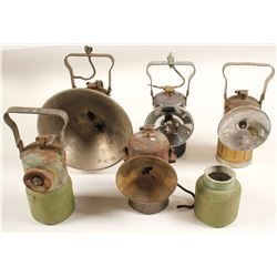 5 Justrite Carbide Lamps